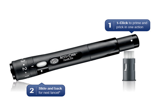 Accu-Chek FastClix Lancing Device For GLucose Care