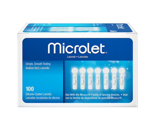 Ascensia Bayer Microlet Lancets 100 Ct. For GLucose Care
