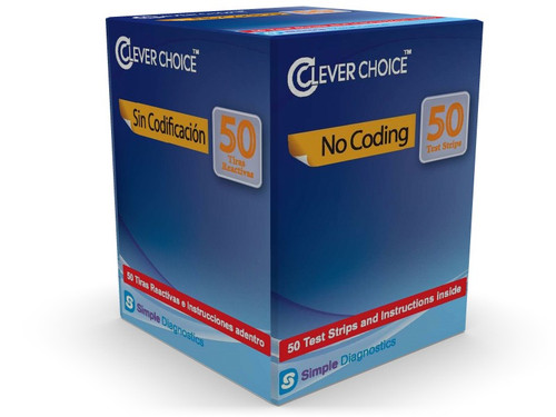 Clever Choice Auto-Code Voice Plus 50 Test Strips For GLucose Care