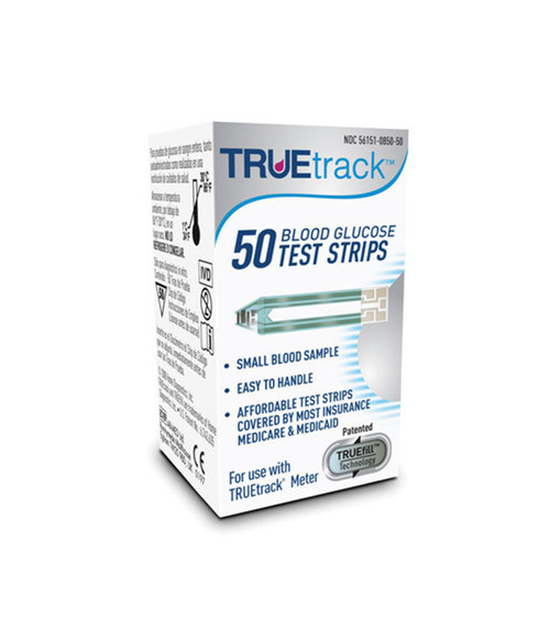 TRUE Track 50 Test Strips For GLucose Care