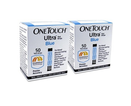 OneTouch Ultra Blue 100 Test Strips For GLucose Care