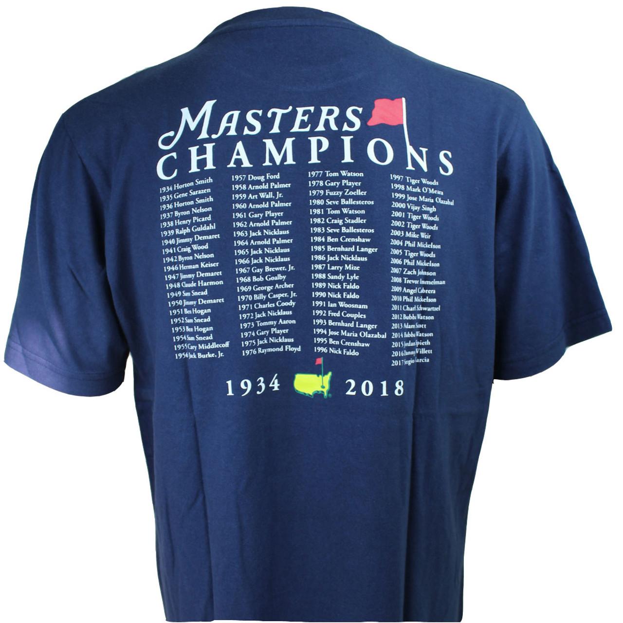 25cb2196 2018 Masters Champions T-Shirt - Navy - Masters Windshirts, Sweaters ...
