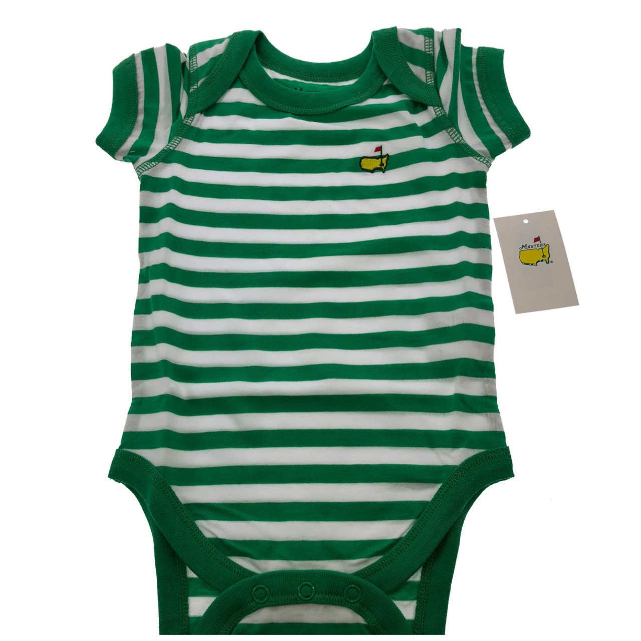 4d94ae255418d Masters Onesie - Green & White
