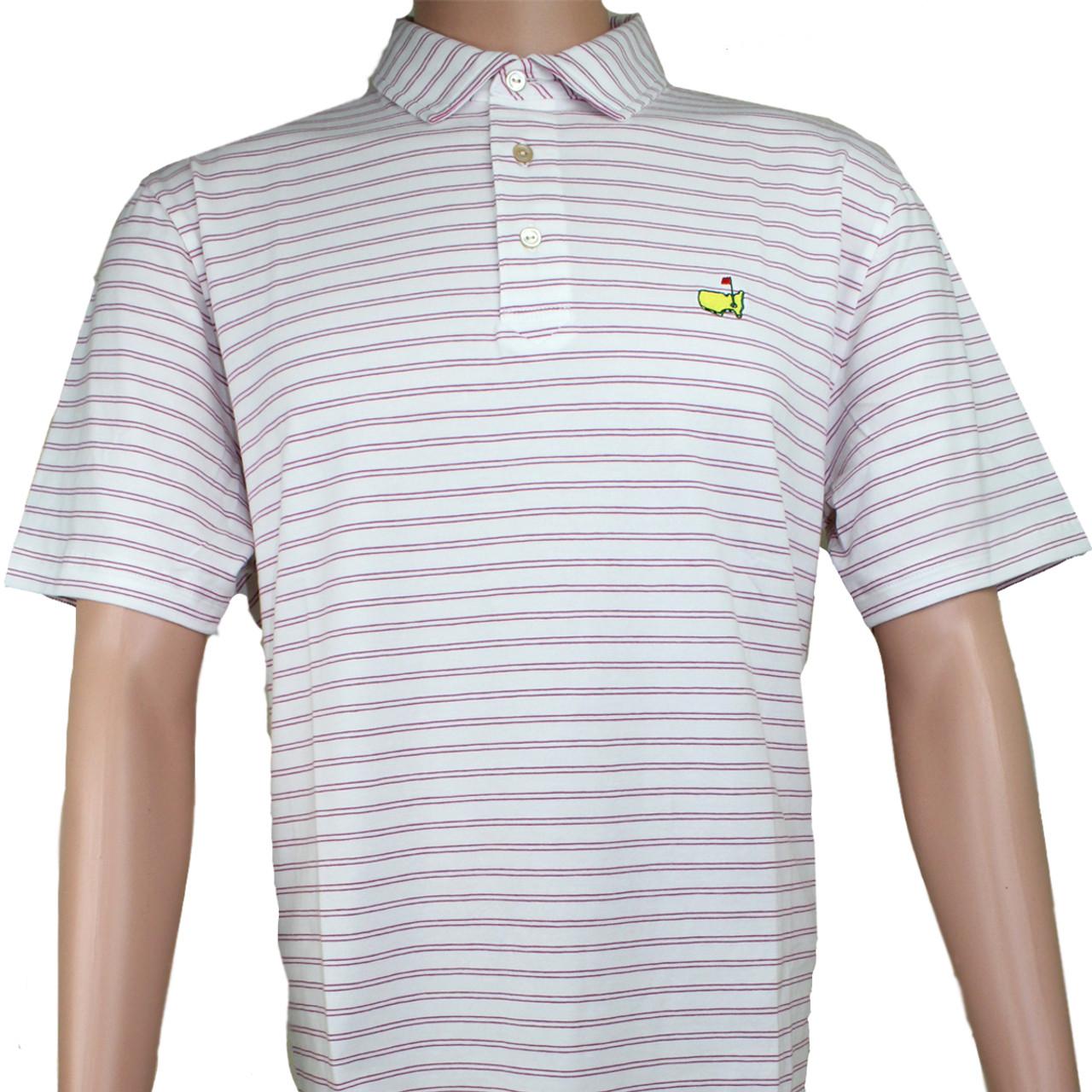 4aa9719c Masters Peter Millar White & Rosebud Jersey Golf Shirt
