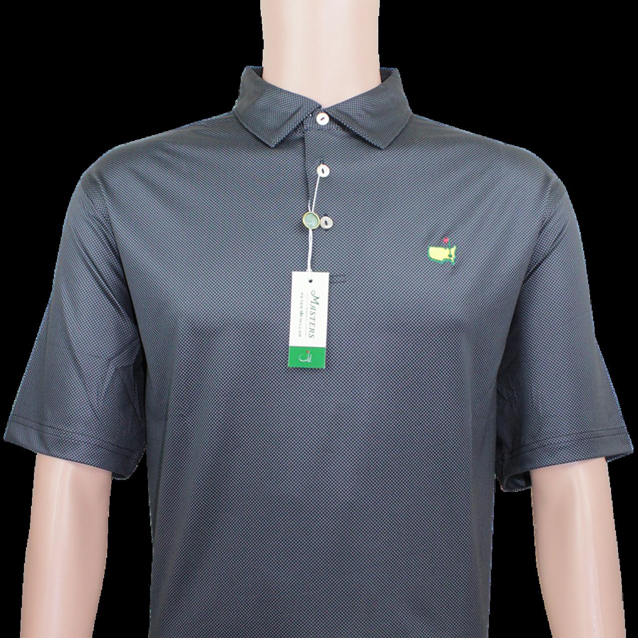cacd05777d7 Masters Black   Charcoal Checkered Peter Millar Performance Tech Golf Shirt