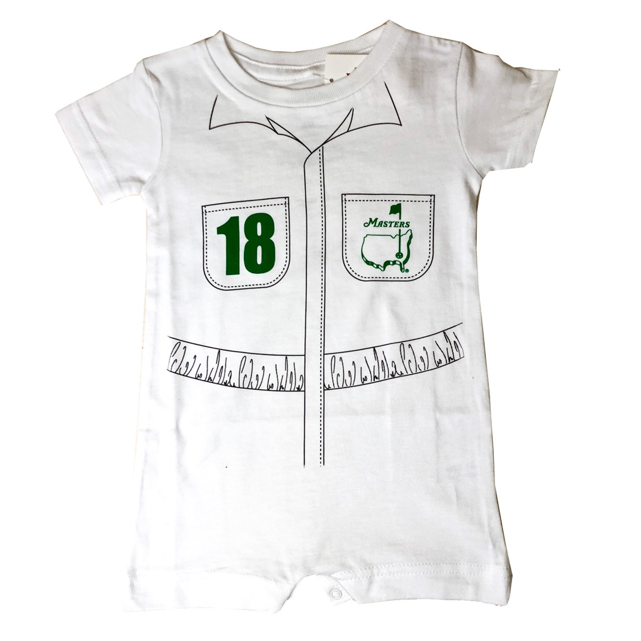 1e6439a75801b Masters Baby Caddy Onesie - White