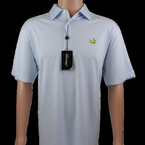 489f15f4d4b Masters Sky Blue   White Striped Performance Tech Golf Shirt