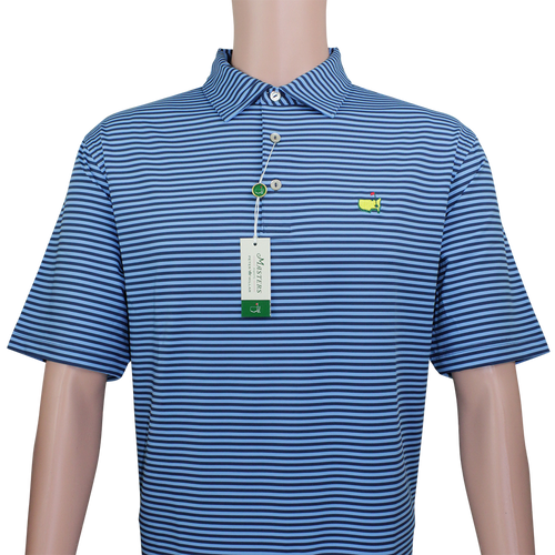 e0282da57 Masters Navy   Sky Blue Striped Peter Millar Performance Tech Golf Shirt