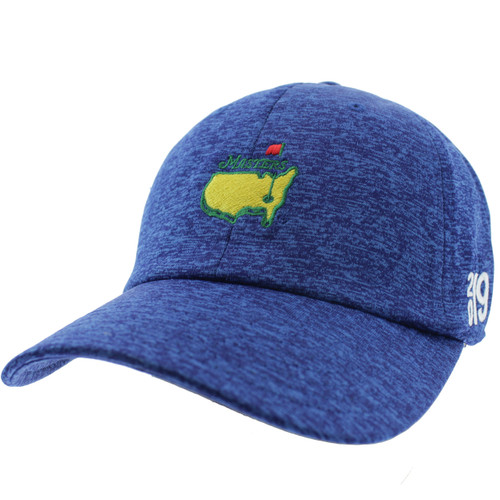 199e5bf481344 2019 Masters Royal Blue Performance Tech Side Dated Hat