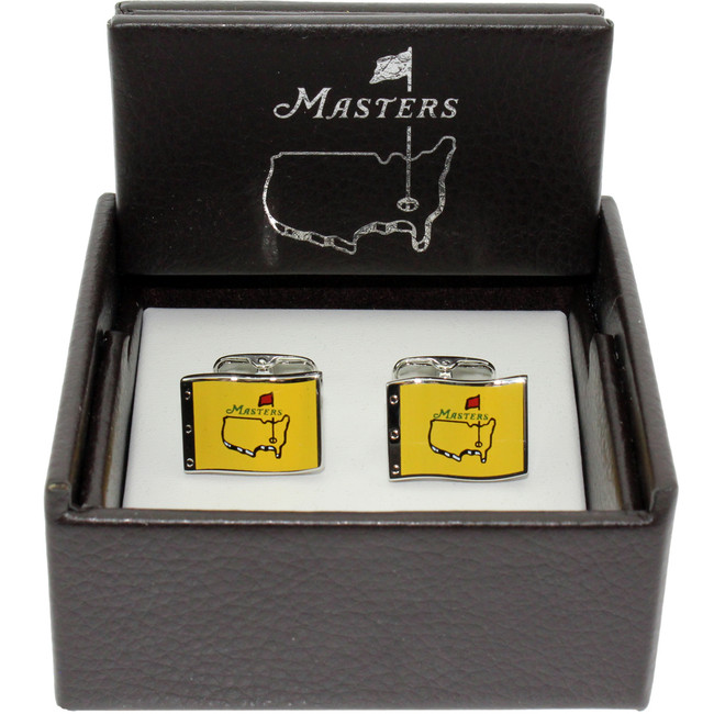 Masters Cuff Links - Yellow Pin Flag