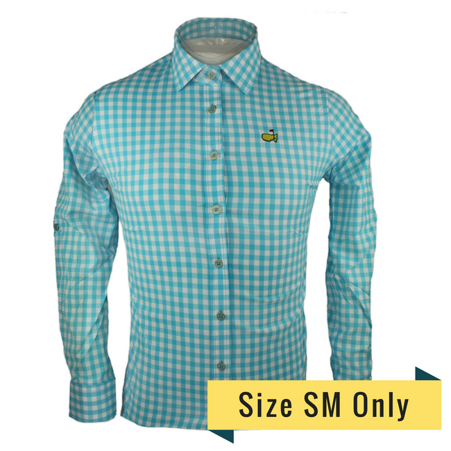 Masters Ladies Gingham Long Sleeve Polo