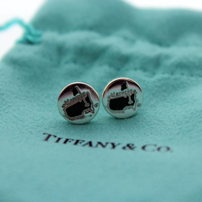 Masters Tiffany Sterling Silver Gren Logo Earring
