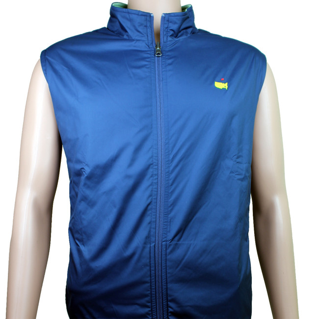 Masters Peter Millar Navy & Lime Reversible Performance Vest