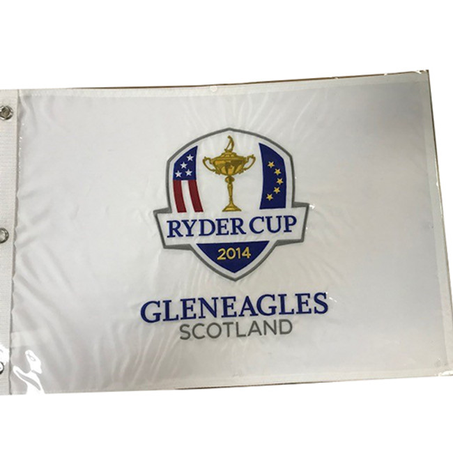 2014 Ryder Cup Embroidered Pin Flag Authentic- Gleneagles Scotland