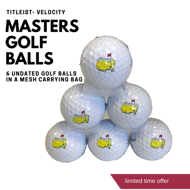 Bag of 6 Masters Titleist Golf Balls- Velocity