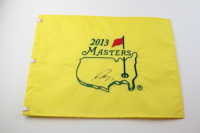 2013 Authentic Augusta National Masters Pin Flag - Autographed by Ryo Isikawa