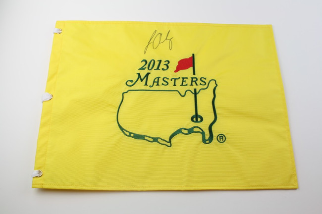 2013 Masters Flag - Autographed by Louis Oosthuizen
