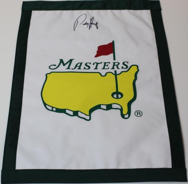 Padraig Harrington Signed Masters Garden Flag