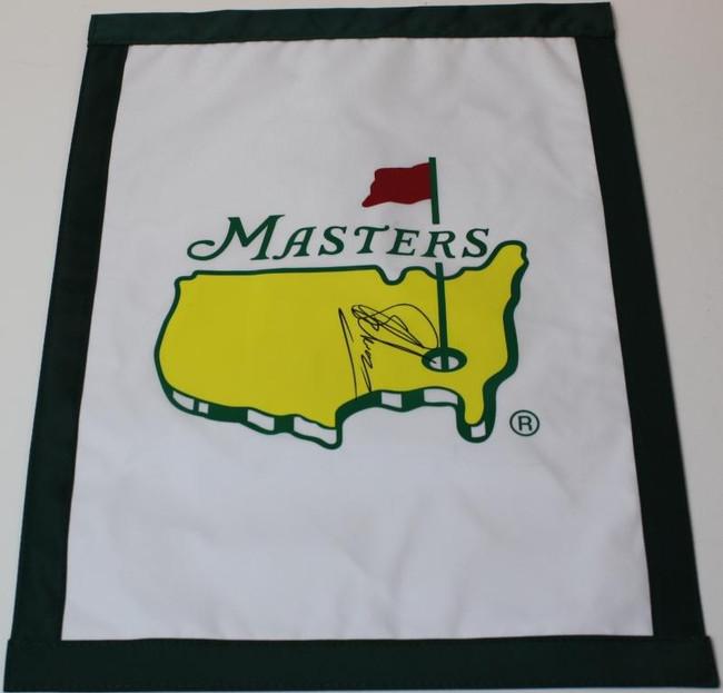 Charl Schwartzel Signed Masters Garden Flag