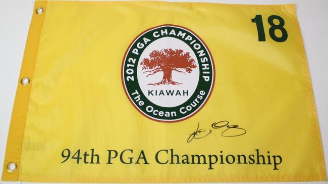 Rory McIlroy 2012 PGA Championship Kiawah Autographed Flag