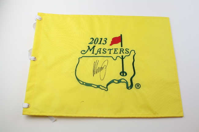 2013 Authentic Augusta National Masters Pin Flag - Autographed by Matteo Manassero