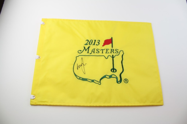2013 Authentic Augusta National Masters Pin Flag - Autographed by Graeme McDowell