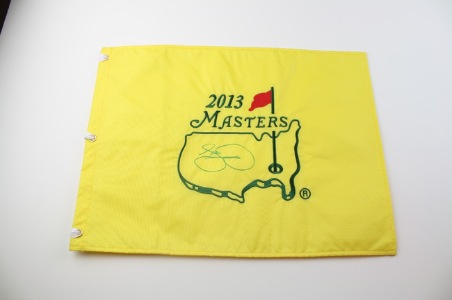 2013 Authentic Augusta National Masters Pin Flag - Autographed by Jason Day - 2015 PGA Champion