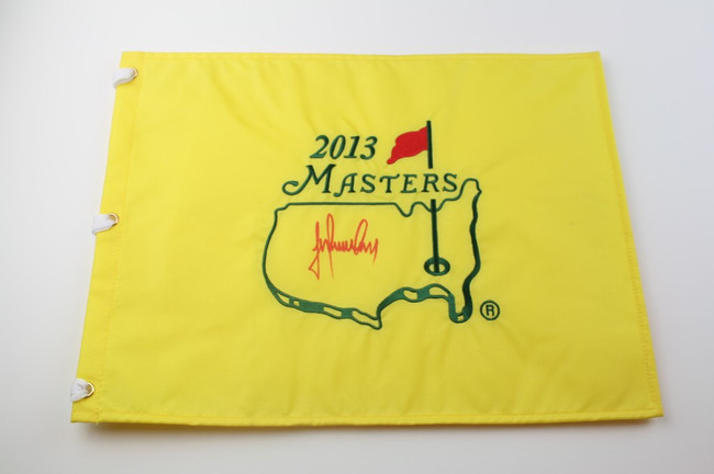 2013 Authentic Augusta National Masters Pin Flag - Autographed by Trevor Immelman