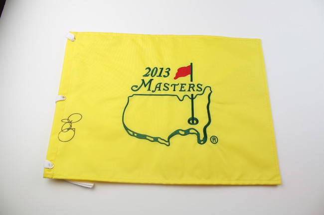 2013 Authentic Augusta National Masters Pin Flag - Autographed by Rory McIlroy - JSA COA