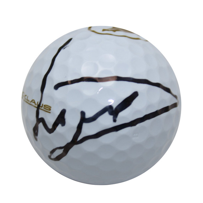 Luke Donald Autographed Memorial Logo Golf Ball