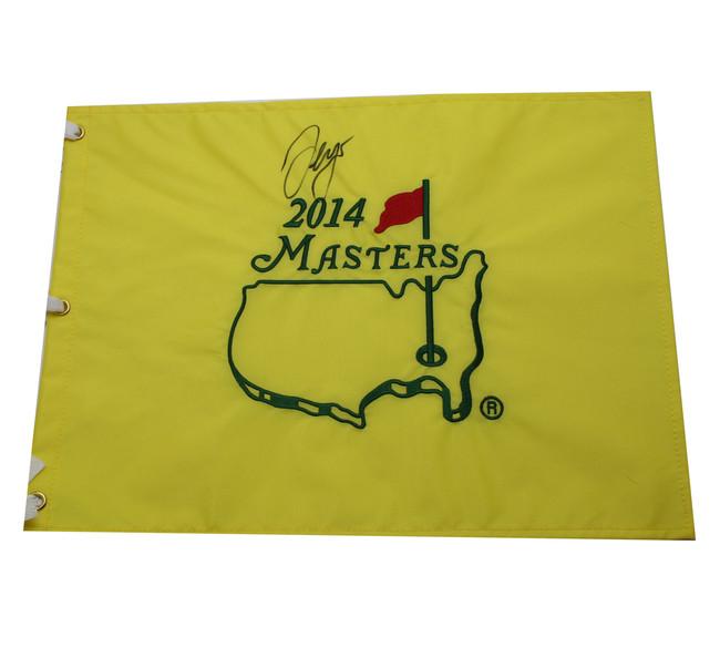 Sergio Garcia Autographed 2014 Masters Pin Flag