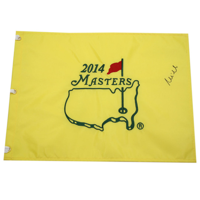 Mike Weir Autographed 2014 Masters Pin Flag