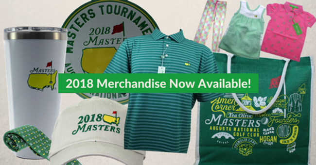 2018 Masters Golf Items Available Now!