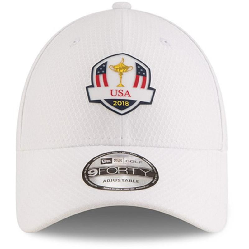d07ce9608a4 2018 Ryder Cup USA Practice Hat-New Era Golf Tech- White - MMO Golf