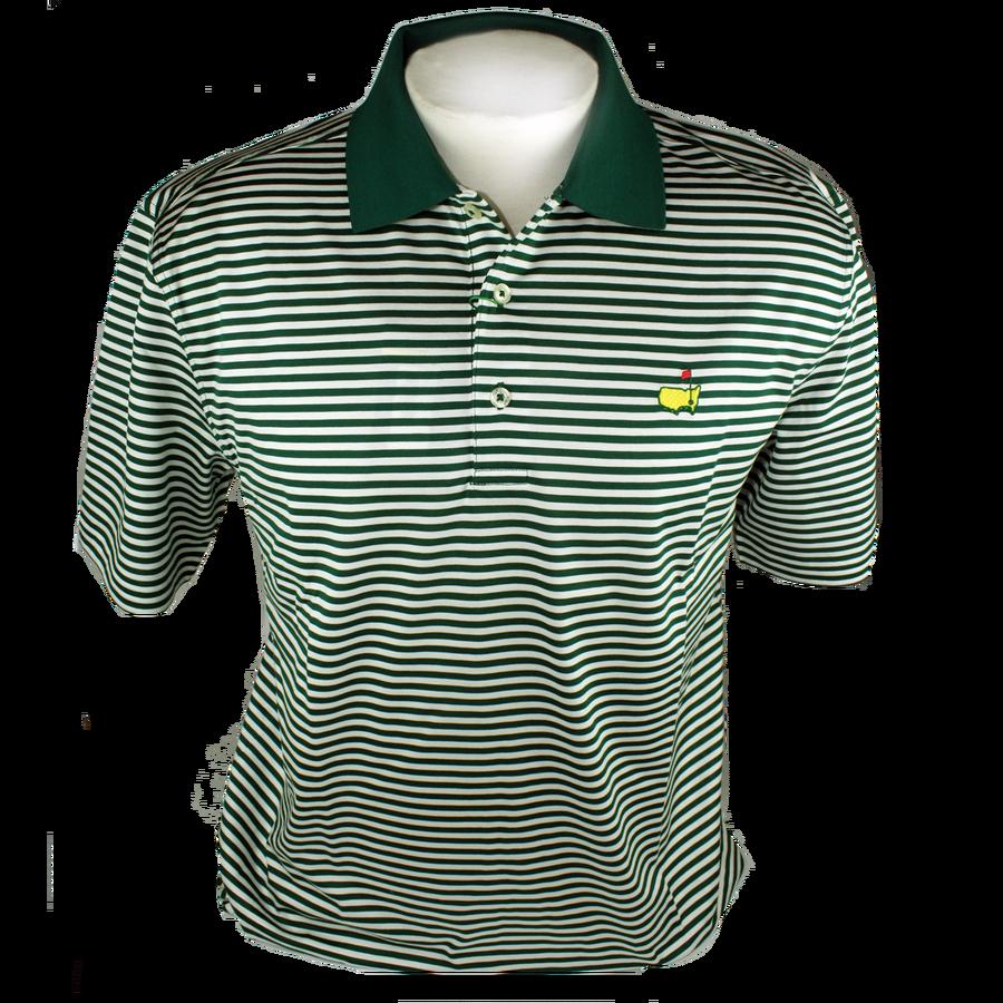 Masters Jersey Green & White Golf Shirt