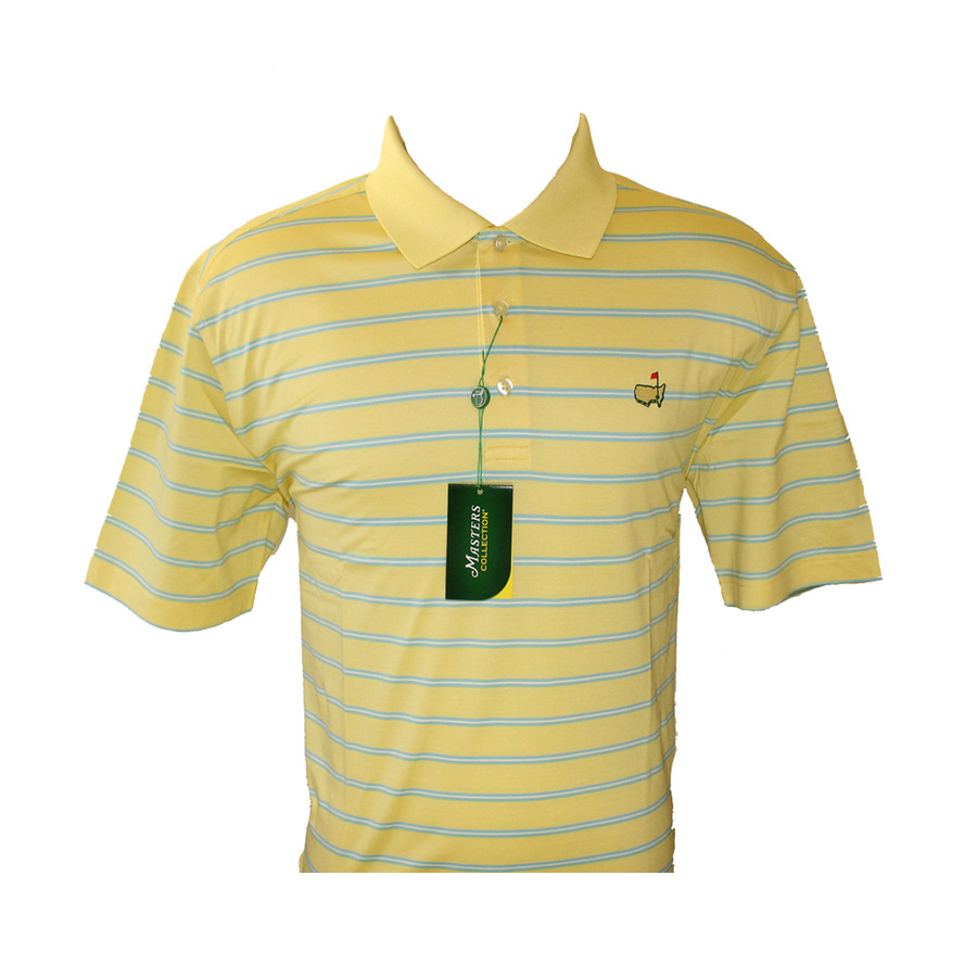 Masters Jersey Yellow With Blue Golf Shirt