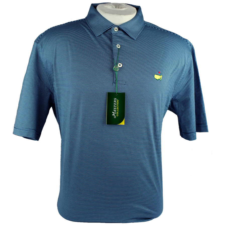 Masters Jersey Navy/Light Blue Golf Shirt Polo