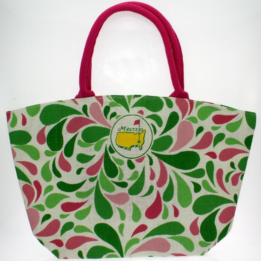 Masters Pink & Green Jute Bag