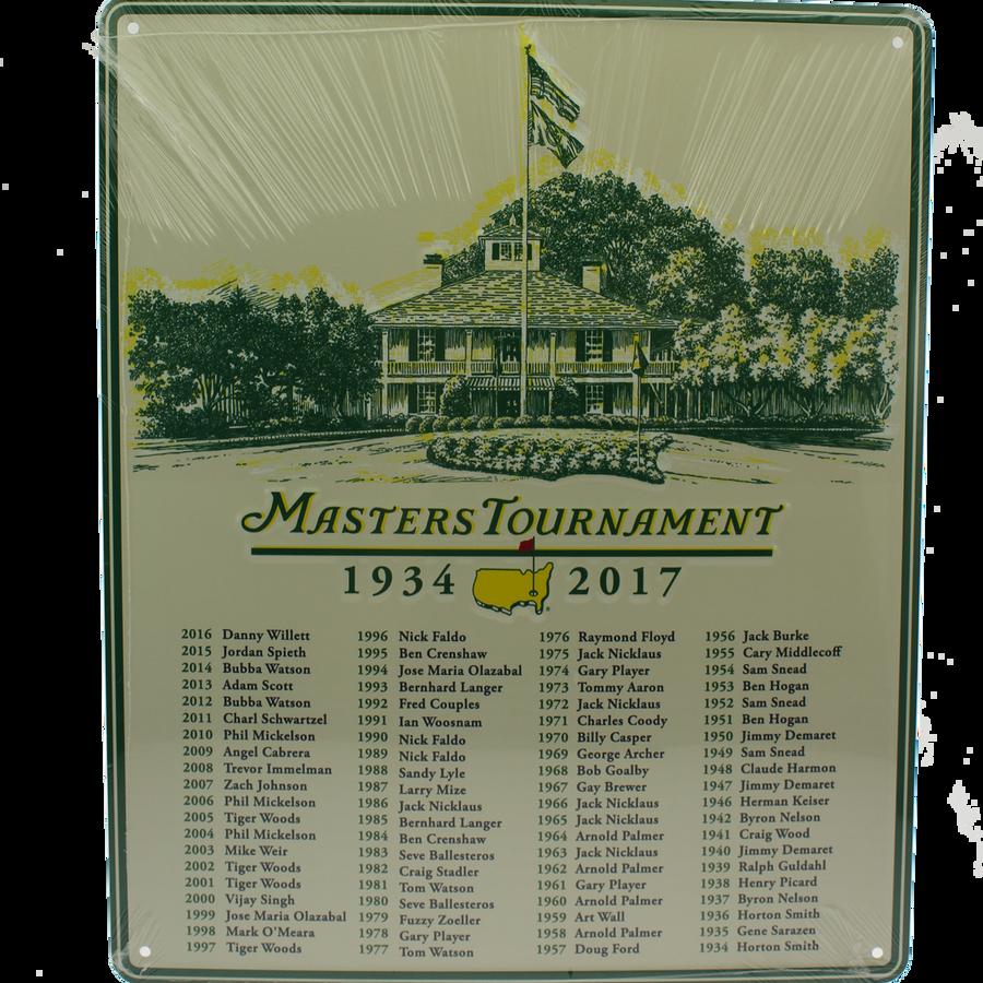2017 Masters Champions 11x14 Metal Wall Sign