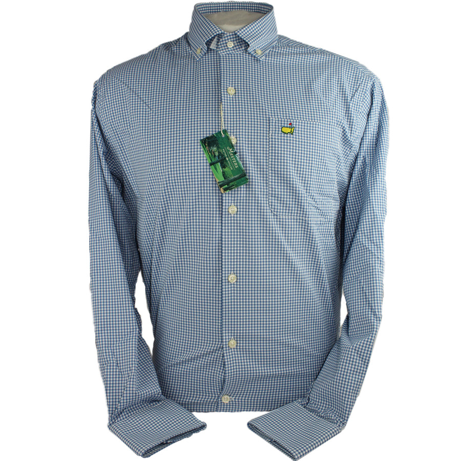 Masters Peter Millar Checkered Blues Dress Shirt