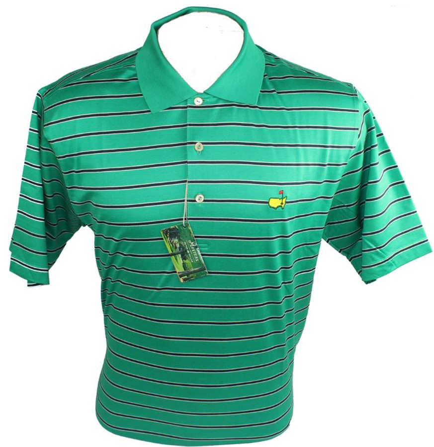 Masters Peter Millar Clubhouse Navy & White Golf Shirt