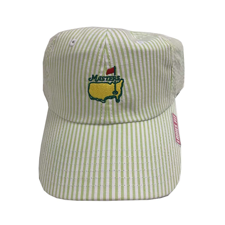 Masters Ladies Caddy Hat - Green Seersucker