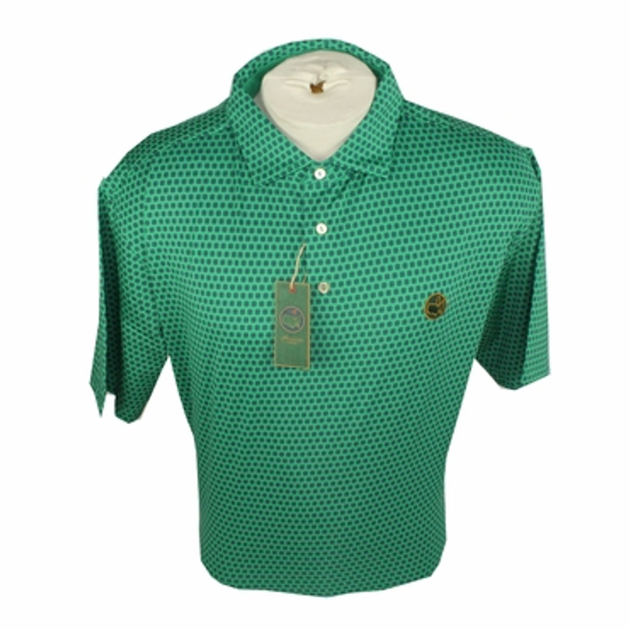 Berckmans Masters Performance Polo Green/Navy Dot