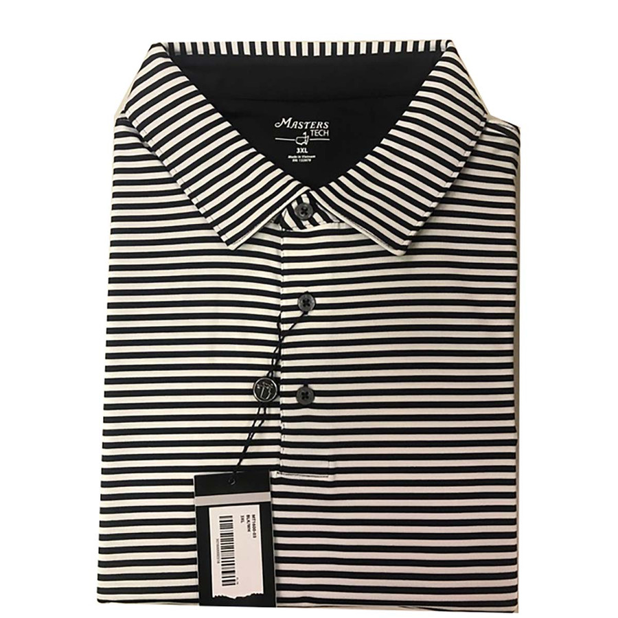 Masters Tech Golf Shirt- Black and White