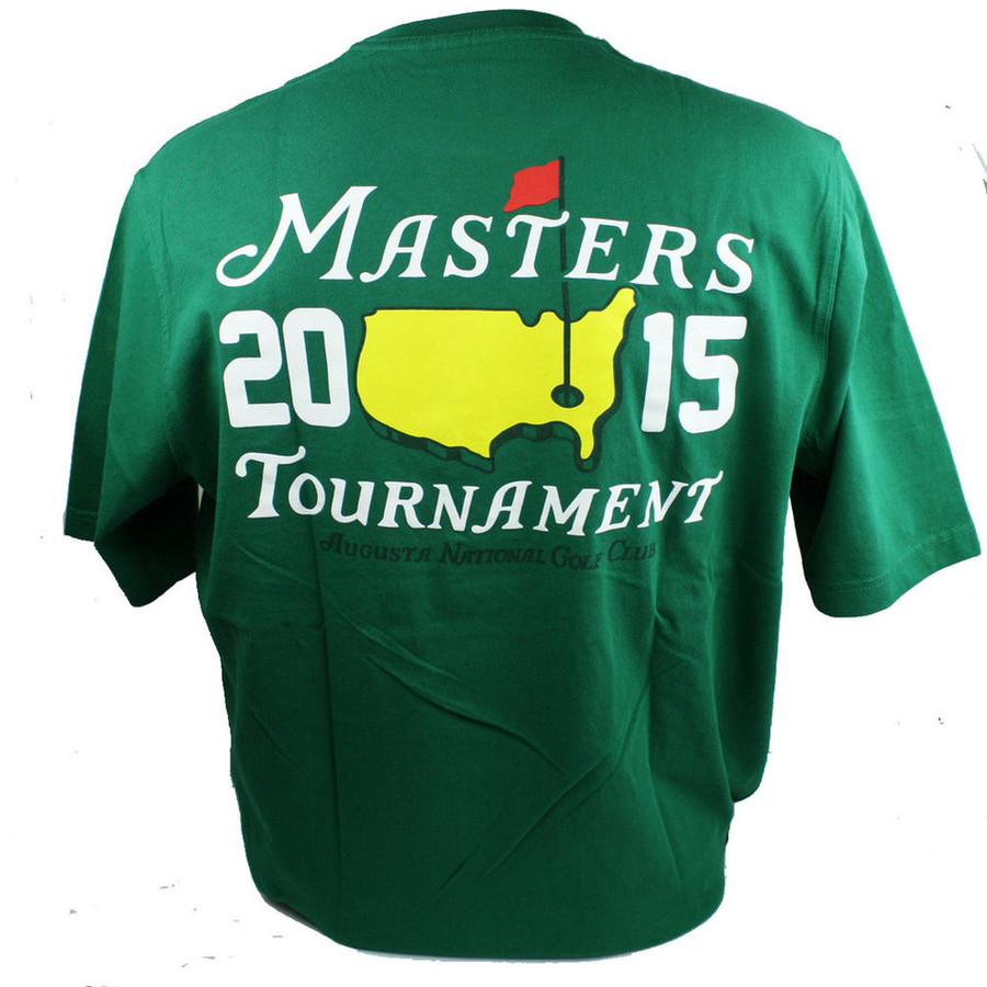 2015 Masters Green Small Logo T-Shirt- Spieth Champ Year!
