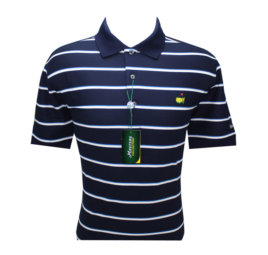 Masters Pique Navy with White and Royal Blue Stripes