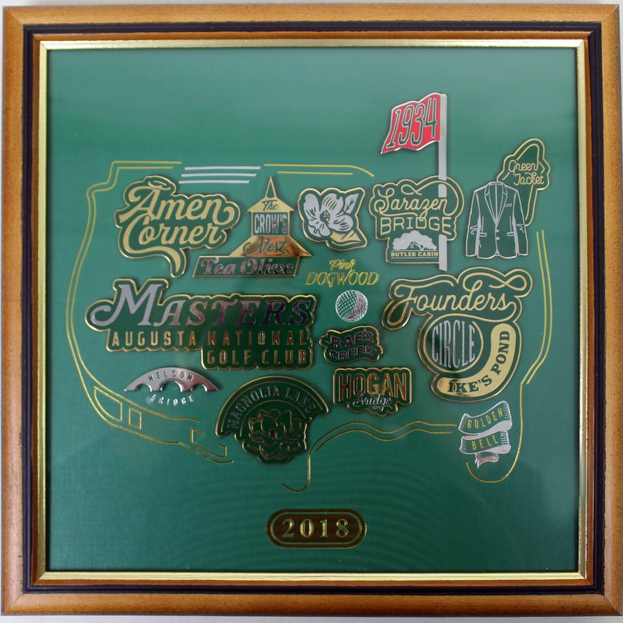 2018 Masters Commemorative Pin Set