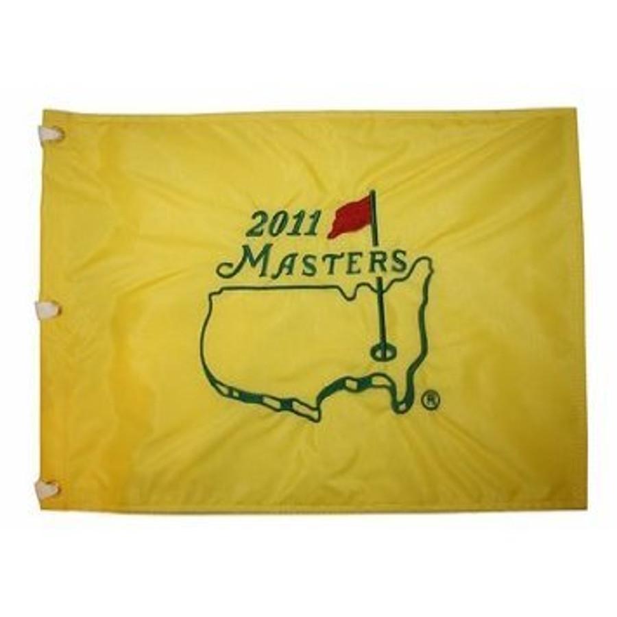 2011 Masters Pin Flag - Framed