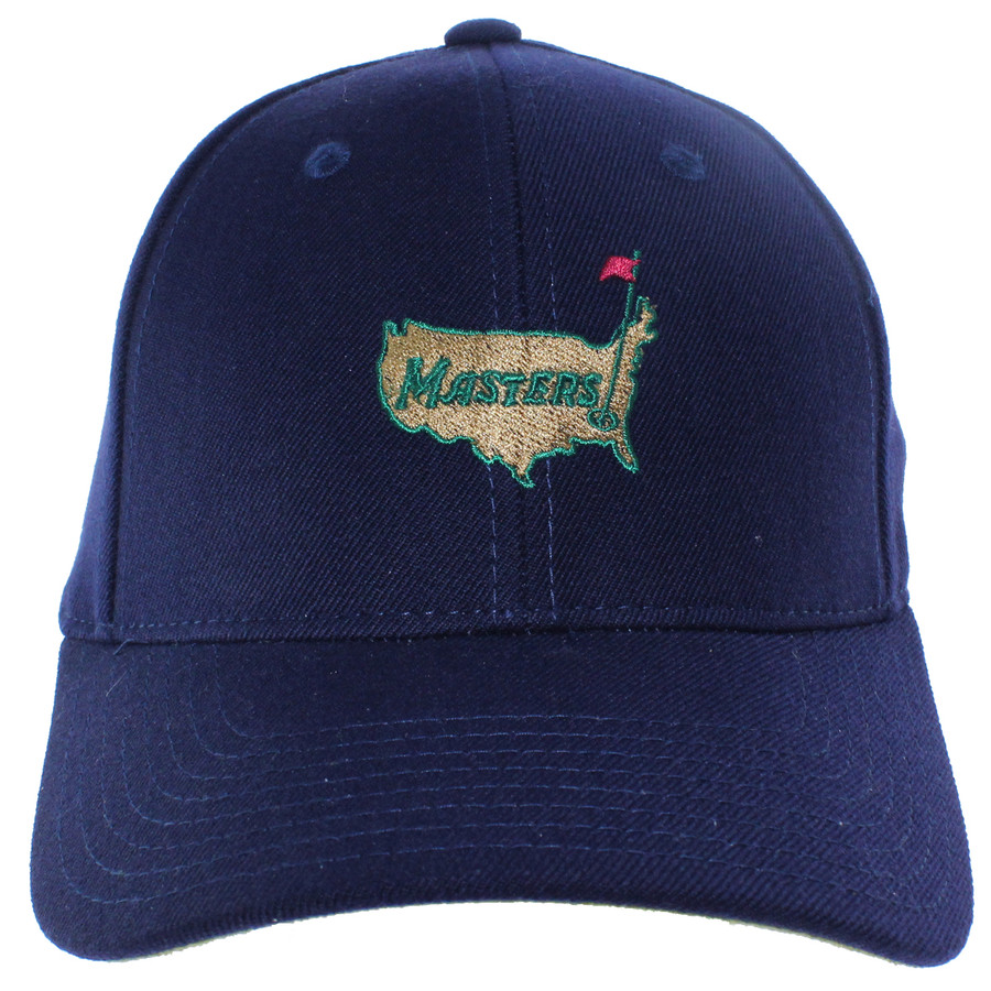 Masters Navy Wool Structured Augusta National Hat