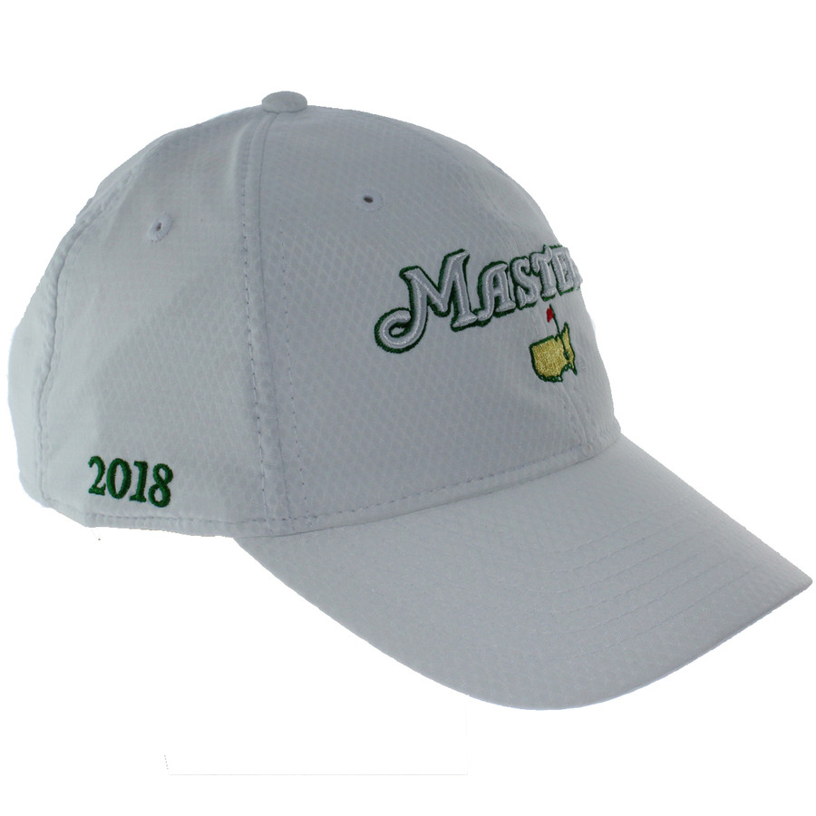 eea0e7980a0 2018 Masters White Performance Tech Side Dated Hat - MMO Golf